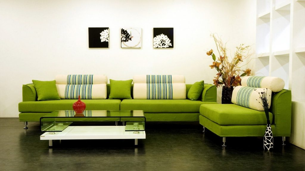 Green Accents Living Room Ideas Jeeworld Part 43