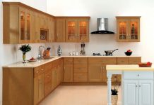 Kitchen Cabinets With Vinyl Walpaper | Jeeworld.com